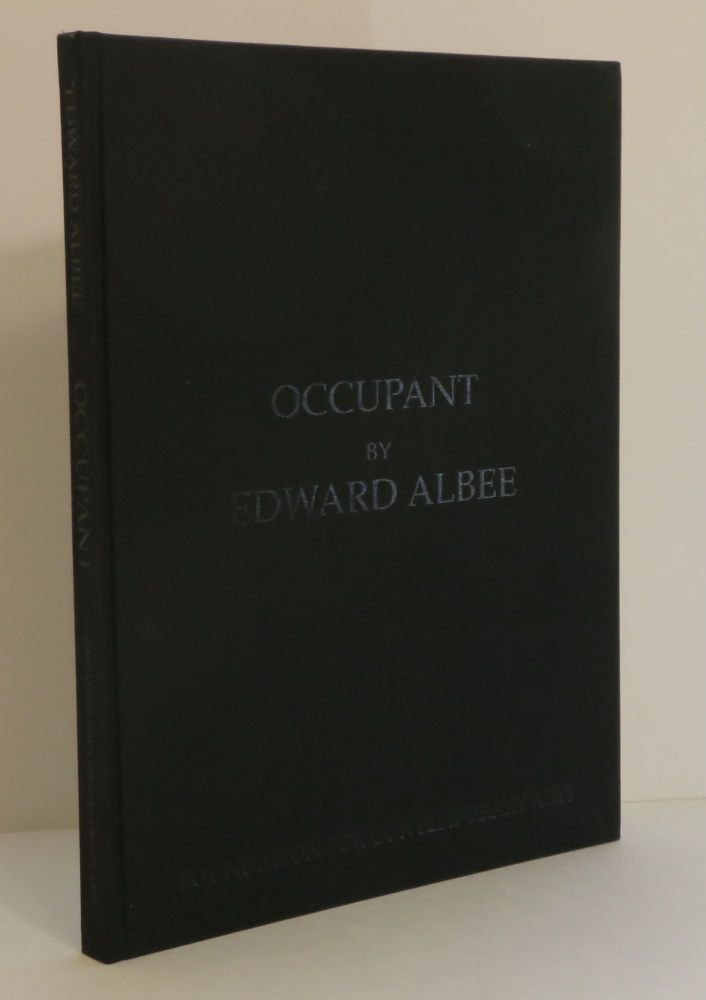 OCCUPANT: A PLAY ABOUT LOUISE NEVELSON. Edward - Albee, Marian Seldes, Lawrence Sacharow.