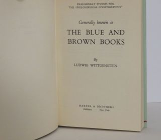 The Blue & Brown Books